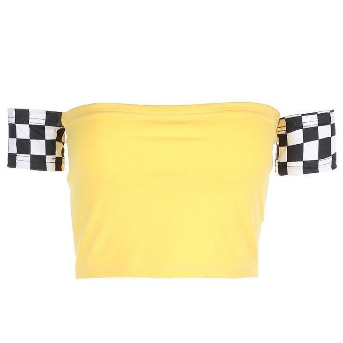 Checker Crop Top