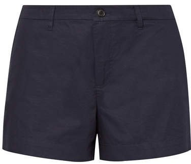 Cotton-poplin Shorts - Navy
