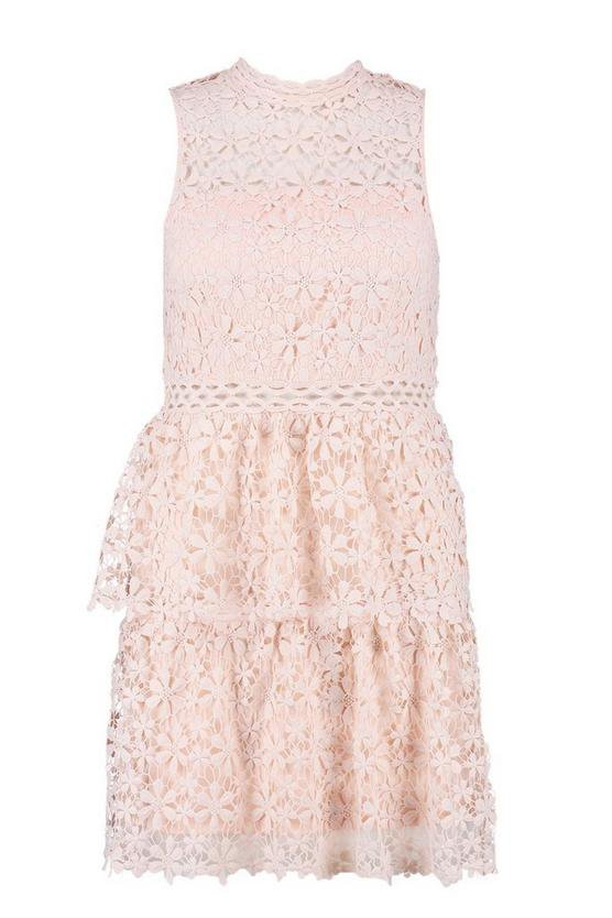 Plus Lace Tiered Skater Dress | Boohoo