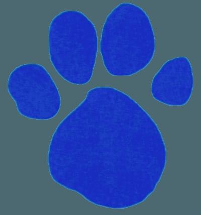 Blue Pawprint