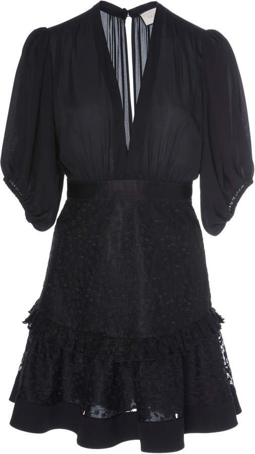 Estela Lace-Trim Mini Dress