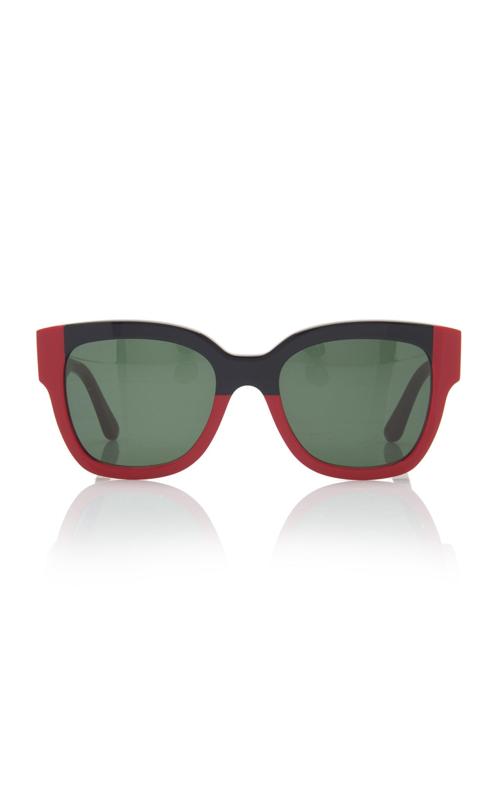 Marni Colorblocked Square Frame Sunglasses