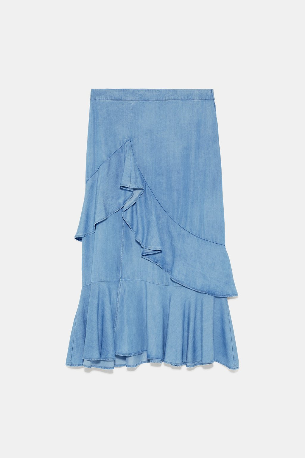 RUFFLED SKIRT - View All-SKIRTS-WOMAN | ZARA United States blue