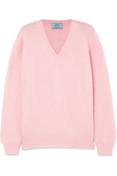 Prada | Oversized mohair-blend sweater | NET-A-PORTER.COM