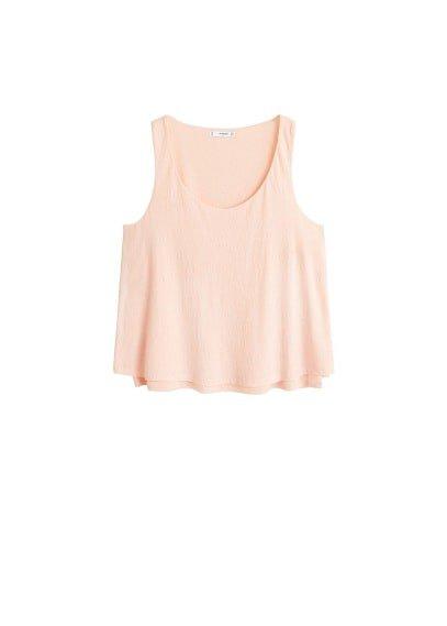 MANGO Double-layered t-shirt