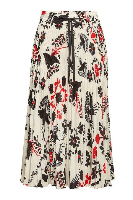 RED Valentino - Micro Pleat Printed Skirt - multicolored