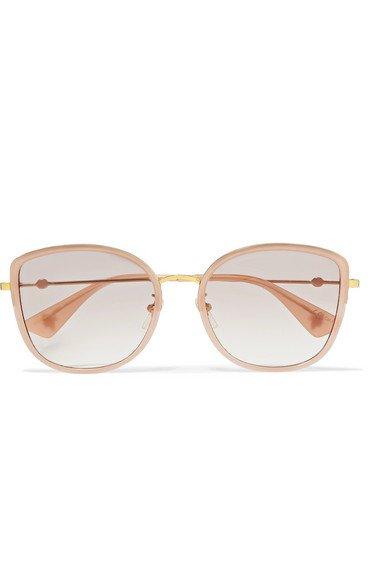Gucci   Oversized square-frame acetate and gold-tone sunglasses   NET-A-PORTER.COM