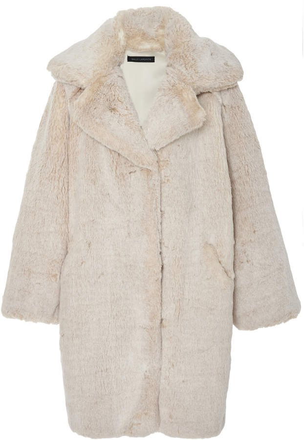 Sally LaPointe Oversized Faux Fur Coat