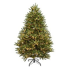 Home Accents Holiday 7.5 ft. Pre-Lit LED Sparkling Pine Artificial Christmas Tree with 600 Warm White 5 Function Lights | The Home Depot Canada