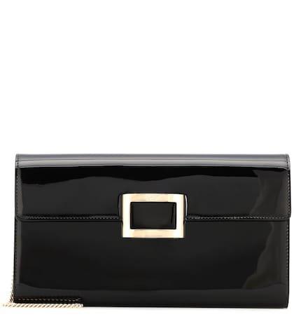 Viv' Envelope patent leather clutch