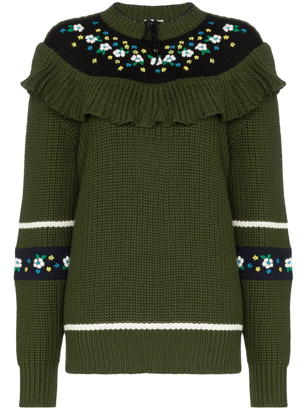 Miu Miu floral knit jumper £1,420 - Shop Online. Same Day Delivery in London