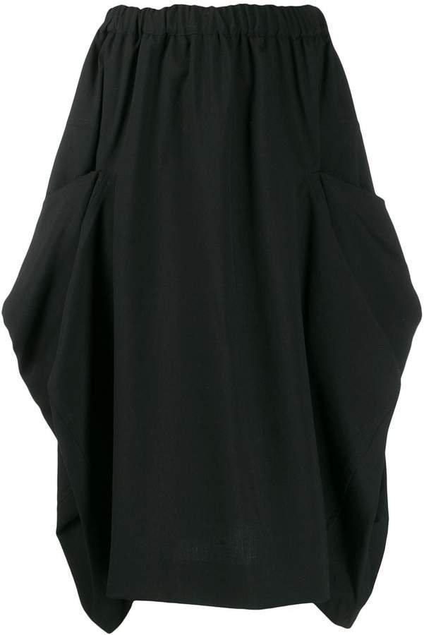 elasticated waist midi skirt
