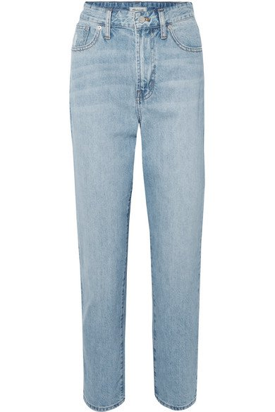 Madewell | The Curvy Perfect Vintage high-rise straight-leg jeans | NET-A-PORTER.COM