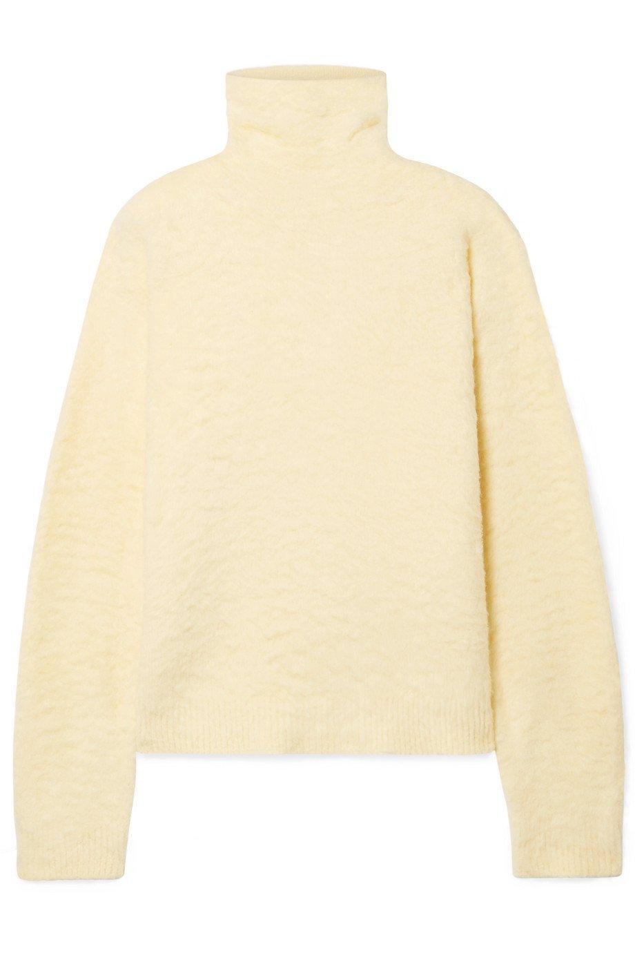 Acne Studios   Kristel cotton-blend turtleneck sweater   NET-A-PORTER.COM