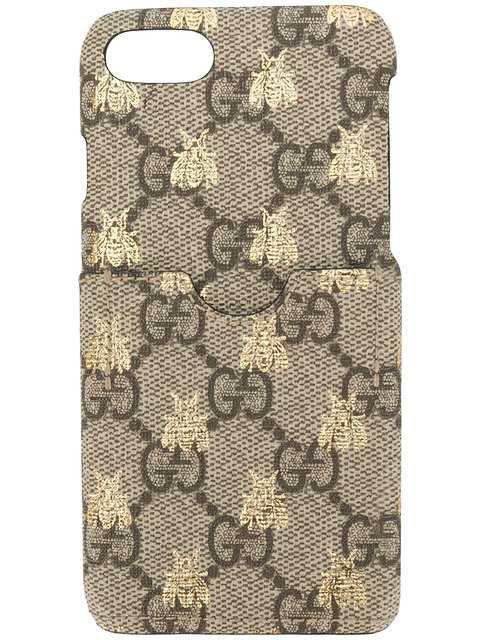 Gucci GG Supreme Bee Print iPhone 7 Case - Farfetch