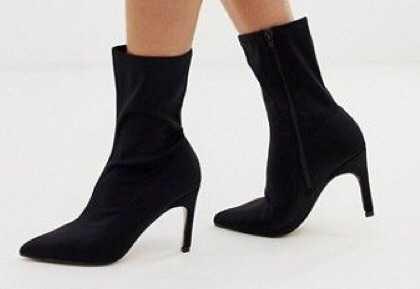 asos kitten heel boots black