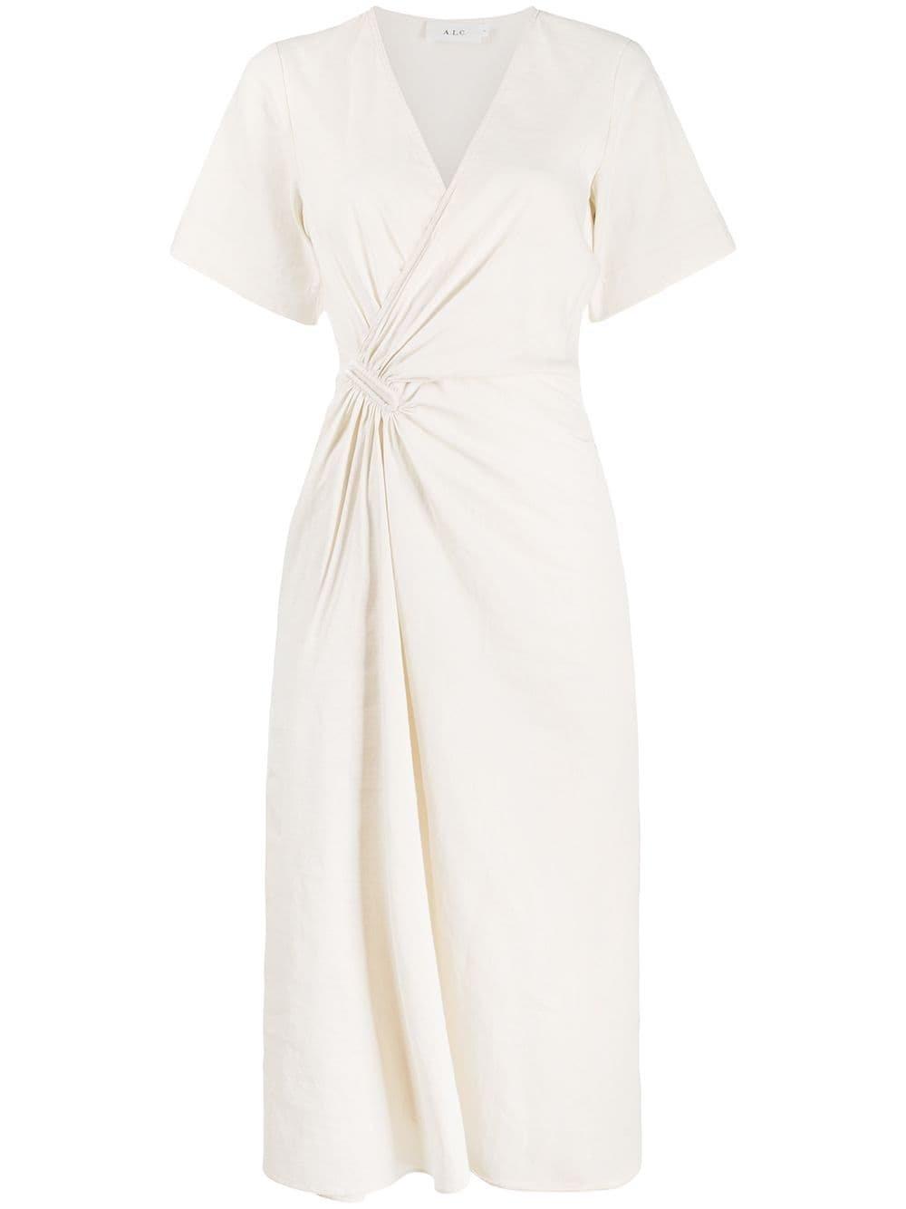 White A.l.c. Wrap-Effect Dress | Farfetch.com