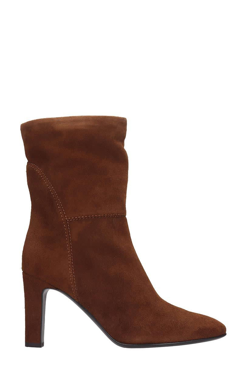 Giuseppe Zanotti Viviana High Heels Ankle Boots In Brown Suede