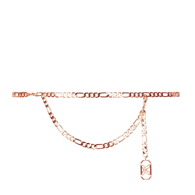 Pink Rose Gold Eva Belt With Rosa Charm