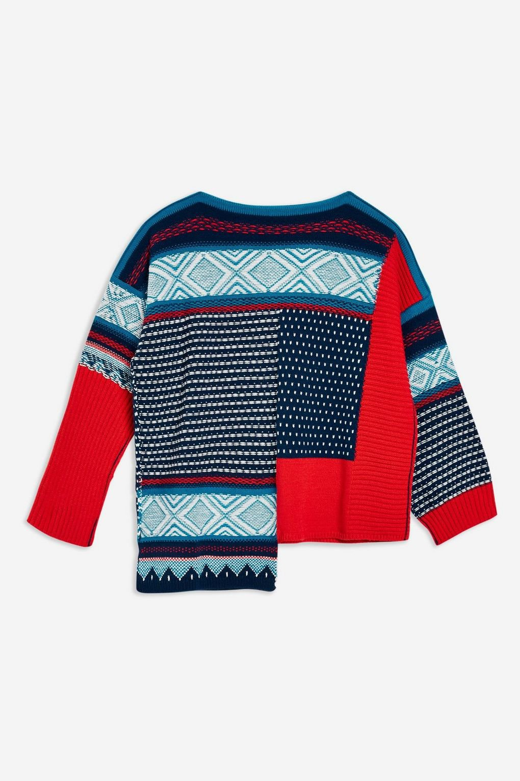 Patched Fair Isle Jumper - Jumpers & Cardigans - Clothing - Topshop