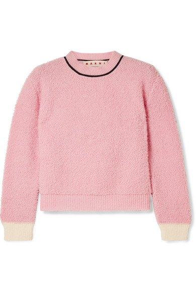 Marni | Wool-blend fleece sweater | NET-A-PORTER.COM