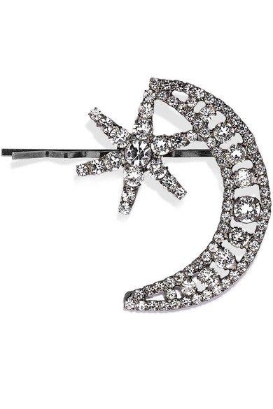 Jennifer Behr   Cira gunmetal-tone crystal hairclip   NET-A-PORTER.COM