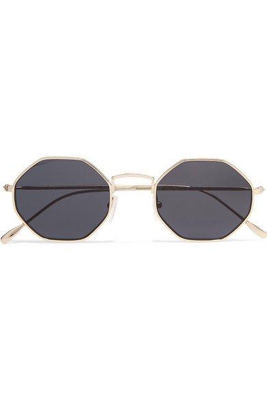 Illesteva | Broome hexagon-frame gold-tone sunglasses | NET-A-PORTER.COM