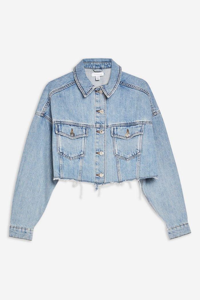 Hacked Blue Denim Jacket   Topshop