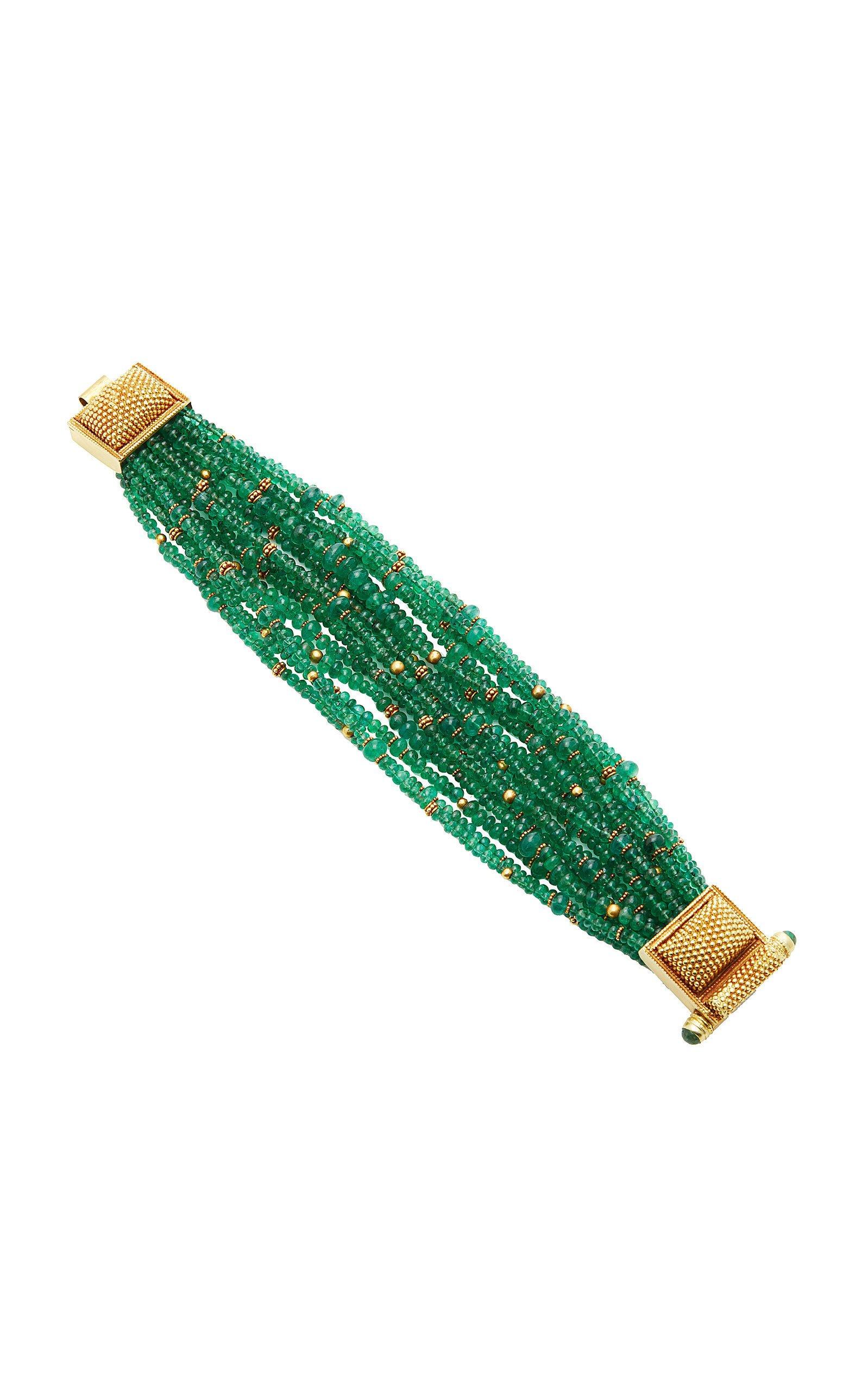 Amrapali 18K Gold Emerald Bracelet