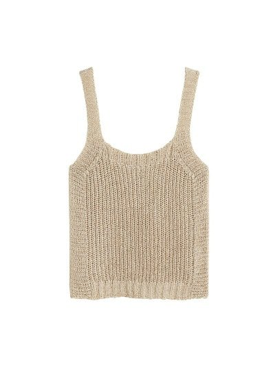 Violeta BY MANGO Metallic crochet top