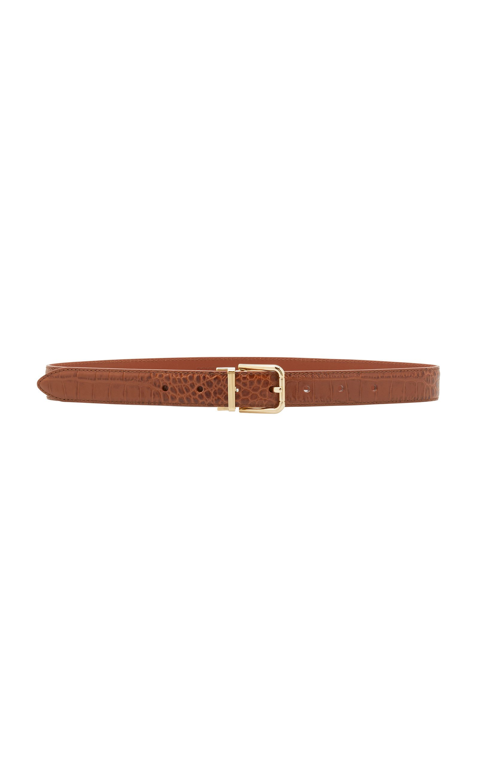 Dolce & Gabbana Croc-Effect Leather Belt Size: 65 cm