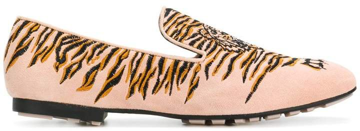 embroidered Tiger loafers