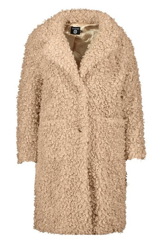 Plus Teddy Faux Fur Longline Coat | Boohoo