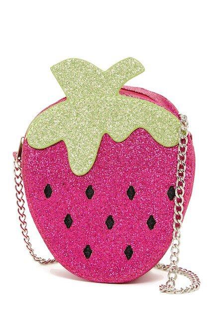 CAPELLI OF NEW YORK   Glitter Strawberry Shoulder Bag   Nordstrom Rack