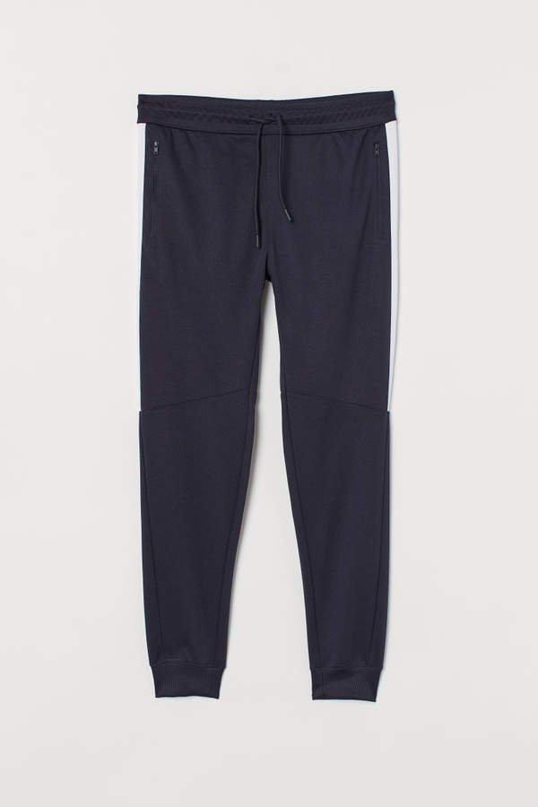 Sweatpants with Side Stripes - Blue
