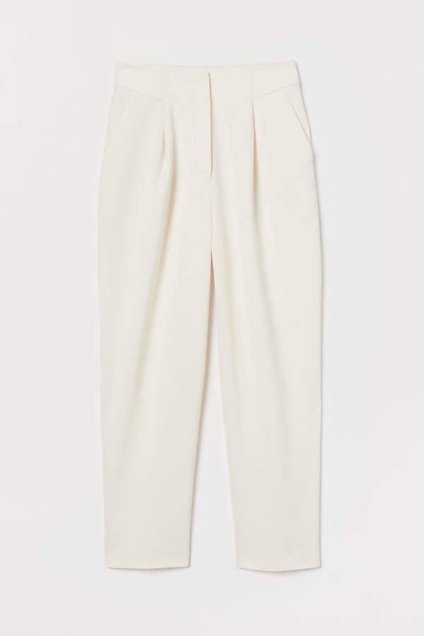 High Waist Pants - White