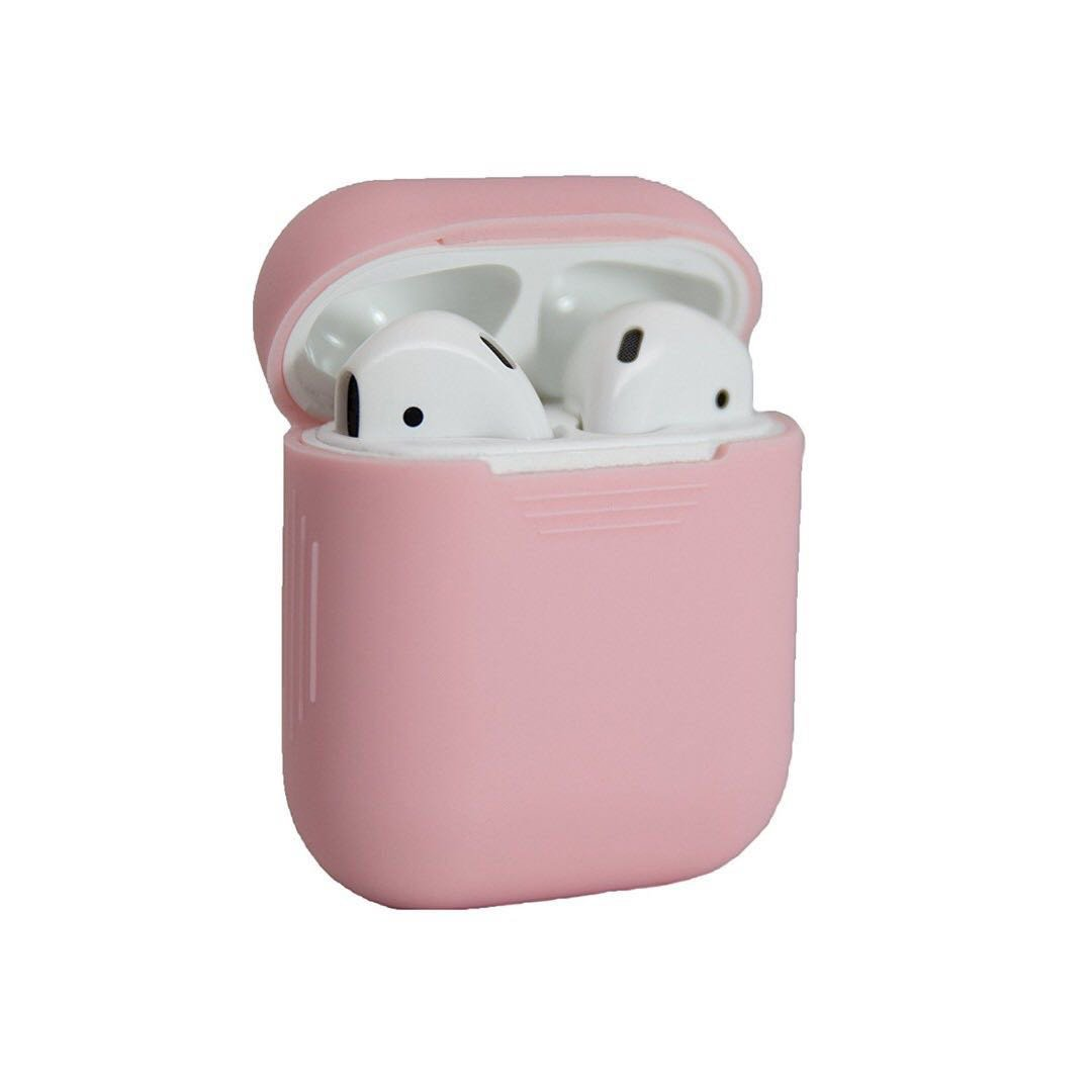 [IN-STOCK] AirPods Case Protective Silicone Skin and Cover for Apple Airpods Charging Case (Baby Pink), Mobile Phones & Tablets, Mobile & Tablet Accessories on Carousell