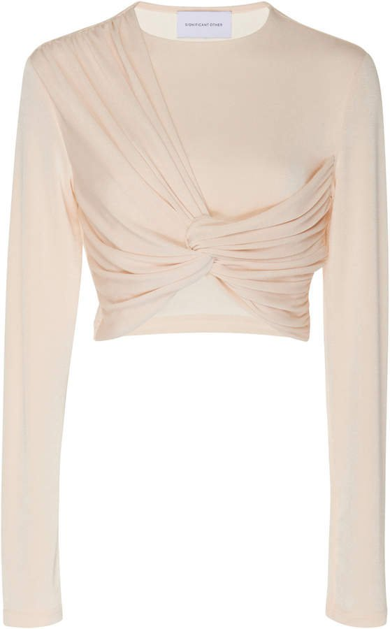 Significant Other Sabine Long Sleeve Ruched Top
