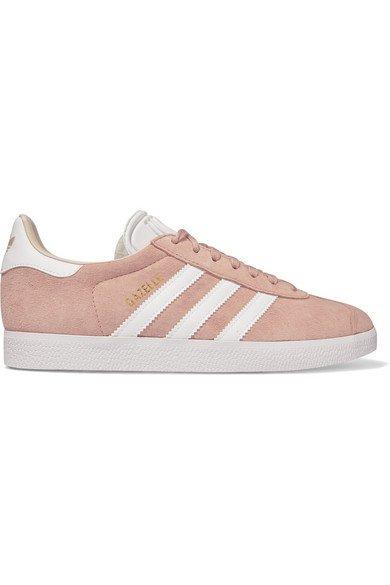 adidas Originals | Gazelle suede and leather sneakers | NET-A-PORTER.COM