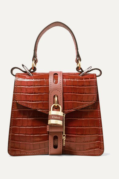 Chloé   Aby small croc-effect leather tote   NET-A-PORTER.COM