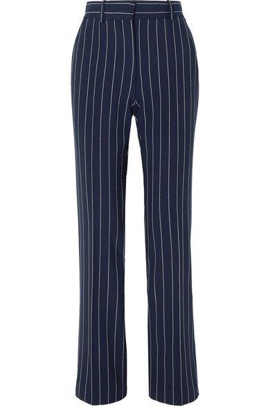 See By Chloé | Pinstriped woven straight-leg pants | NET-A-PORTER.COM