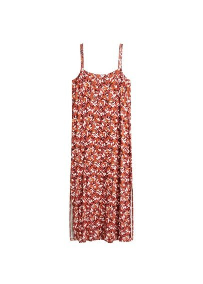 MANGO Printed strap dress