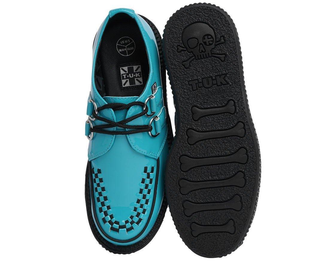 Teal Patent Creeper – T.U.K. Footwear Outlet