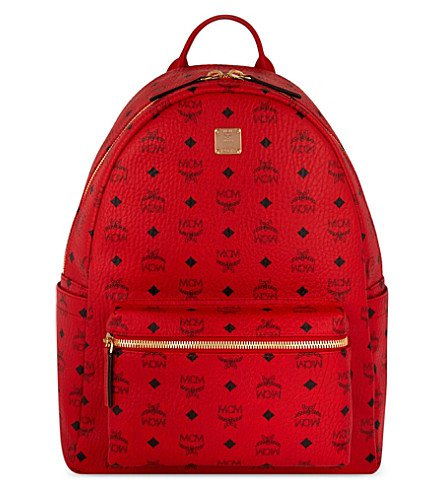 Red MCM Backpack