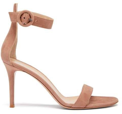 Portofino 85 Suede Sandals - Womens - Nude