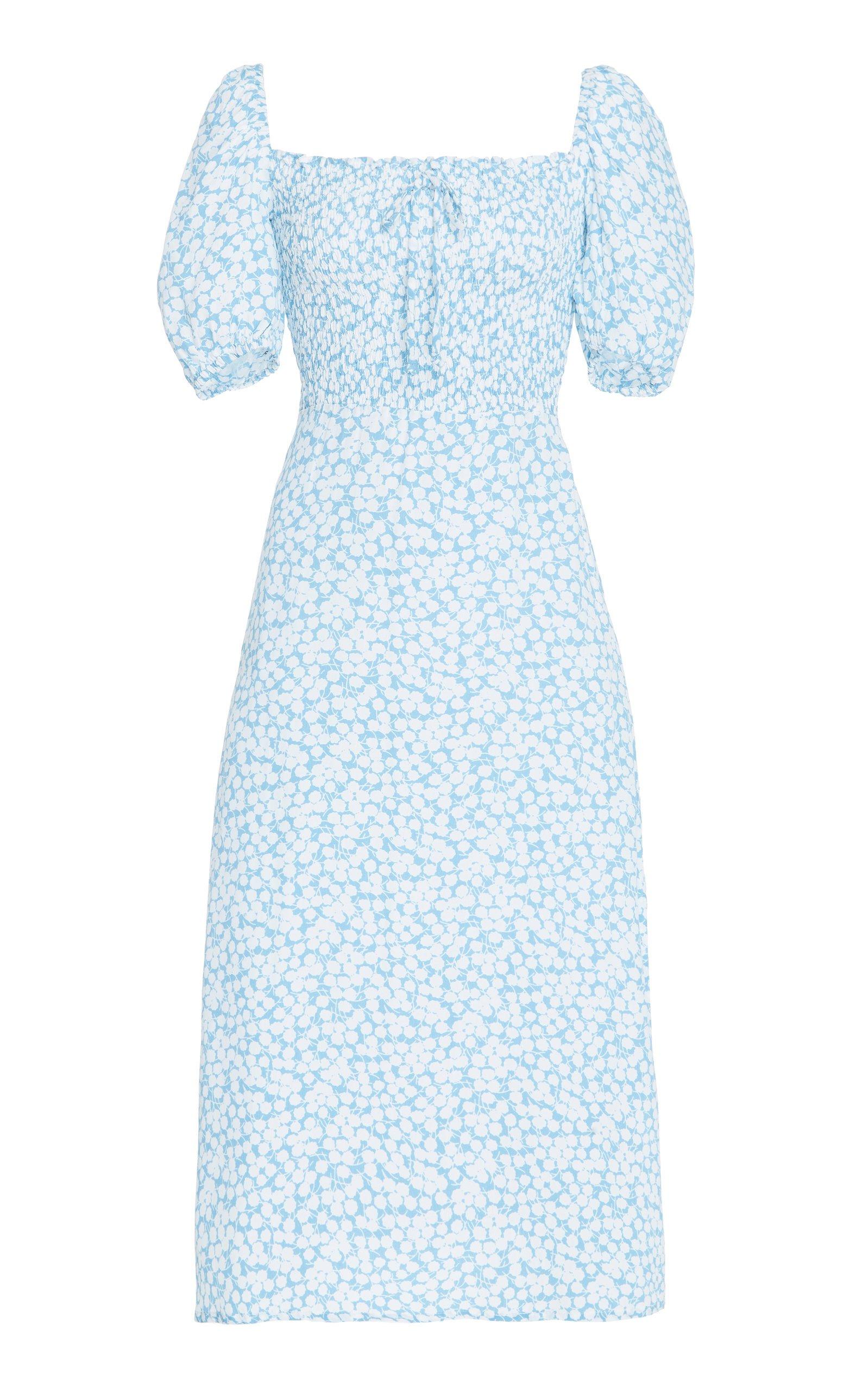 Faithfull The Brand Majorelle Floral-Print Crepe Midi Dress