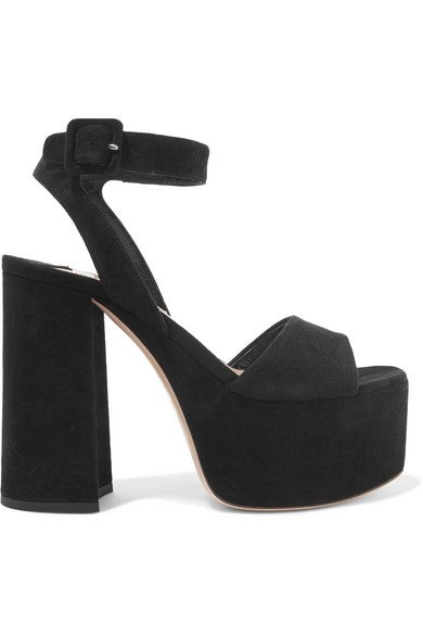 Miu Miu | Suede platform sandals | NET-A-PORTER.COM