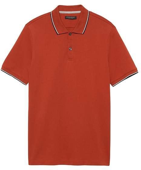 Luxury-Touch Tipped Polo