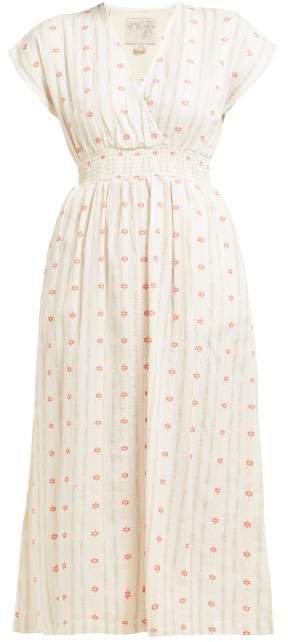 Fay Tulip Jacquard Cotton Dress - Womens - Ivory
