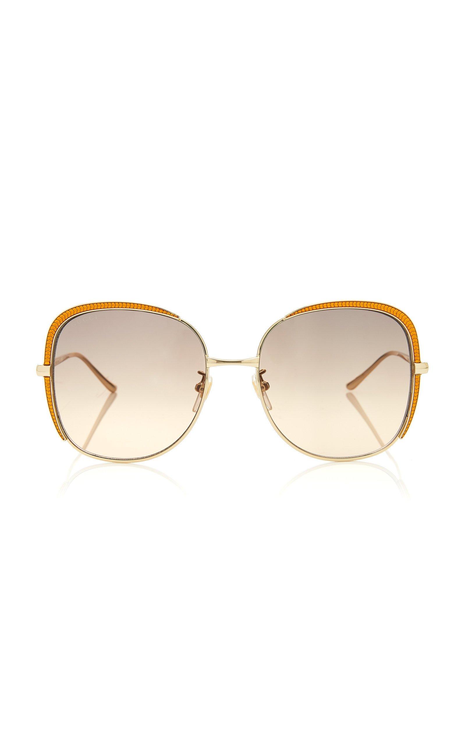 Gucci Guillochet Squared Sunglasses